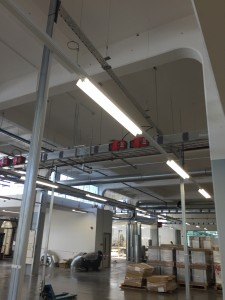 Suspended Lighting Systems at The Wedgwood Factory, Stoke-on-Trent
